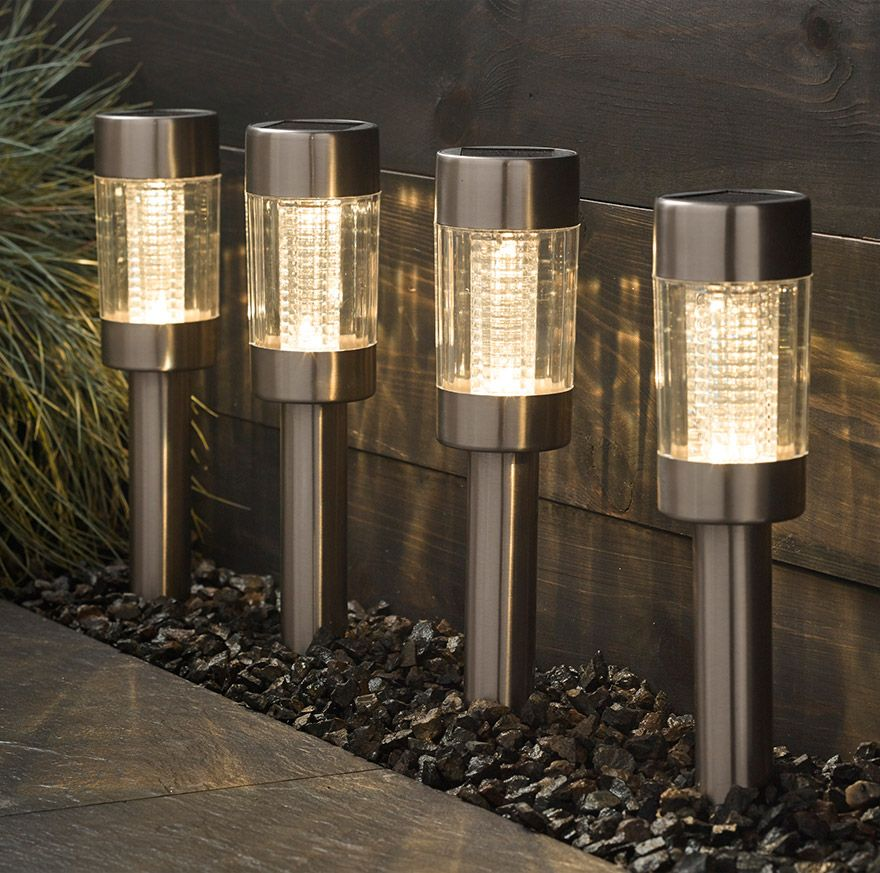 John Lewis Salina Solar Outdoor Lights, Set of 4